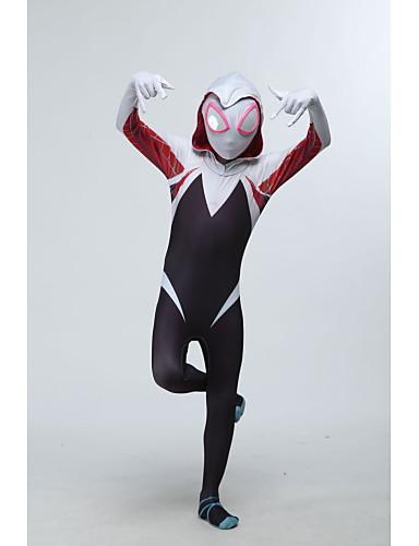 povoljno Maske i kostimi-Zentai odijela Super Heroes Pauci Dječji Spandex Lycra Cosplay Nošnje Halloween Božić Obala Printing Halloween / Visoka elastičnost
