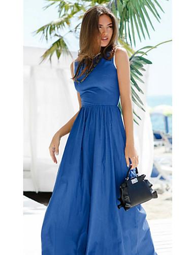 Γυναικεία Βασικό Θήκη Φόρεμα - Μονόχρωμο Μακρύ
