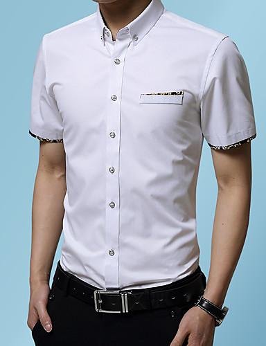 Skjorte Herre - Ensfarget Svart