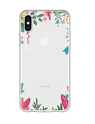 Caso para iphone x xs max xr xs voltar caso capa mole tpu flor simples macio tpu para iphone5 5s se 6 6 p 6 s sp 7 7 p 8 8p16 * 8 * 1