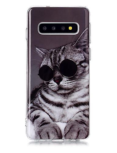 Capinha Para Samsung Galaxy S9 / S9 Plus / S8 Plus IMD / Estampada Capa traseira Gato TPU
