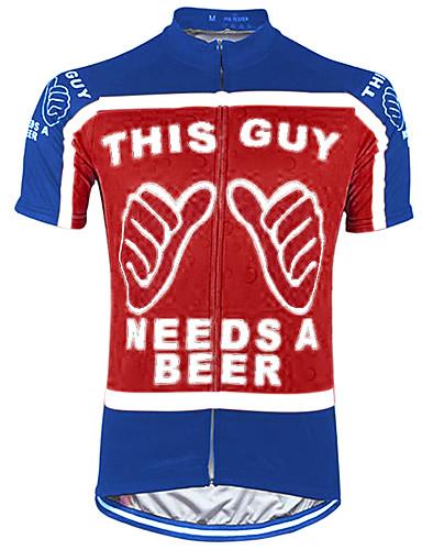 povoljno Odjeća za vožnju biciklom-21Grams Muškarci Kratkih rukava Biciklistička majica Crna / crvena Crna / žuta Red+Blue Retro Noviteti Oktoberfest pivo Bicikl Biciklistička majica Majice Brdski biciklizam biciklom na cesti