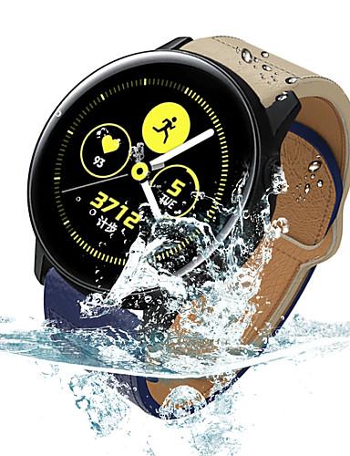 Klokkerem til Samsung Galaxy Watch 46 / Samsung Galaxy Watch 42 Samsung Galaxy Moderne spenne Ekte lær Håndleddsrem