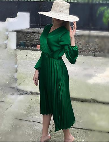 Γυναικεία Βασικό Θήκη Φόρεμα - Μονόχρωμο Μίντι