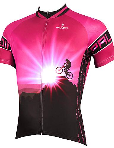 povoljno Odjeća za vožnju biciklom-ILPALADINO Muškarci Kratkih rukava Biciklistička majica purpurna boja Blushing Pink žuta Bicikl Biciklistička majica Majice Brdski biciklizam biciklom na cesti Prozračnost Quick dry Ultraviolet