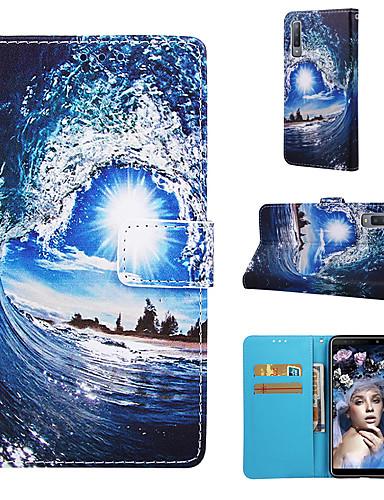 tok Για Samsung Galaxy Galaxy A7(2018) / Galaxy A30 (2019) / Galaxy A50 (2019) Πορτοφόλι / Θήκη καρτών / Ανθεκτική σε πτώσεις Πλήρης Θήκη Κινούμενα σχέδια Σκληρή PU δέρμα / TPU