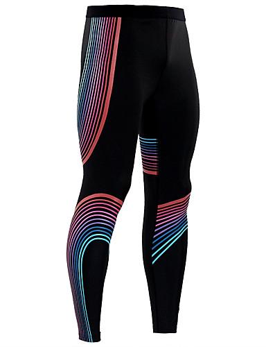 povoljno Odjeća za fitness, trčanje i jogu-Muškarci Hlače za jogu Jedna barva Likra Trčanje Fitness Trening u teretani Biciklizam Hulahopke Odjeća za rekreaciju Prozračnost Ovlaživanje Quick dry Butt Lift Visoka elastičnost
