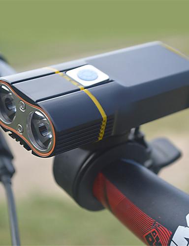 preiswerte Fahrradlichter & Reflektoren-LED Radlichter Fahrradlicht Taschenlampe Bergradfahren Fahhrad Radsport Wasserfest 360° Drehbar Mehrere Modi Super hell 18650 900 lm Wiederaufladbar USB Weiß Camping / Wandern / Erkundungen / IPX 6