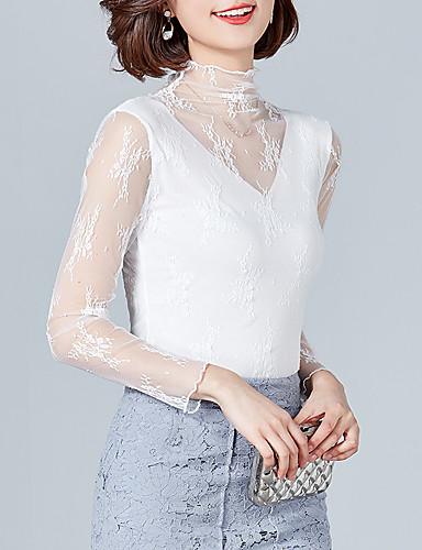 billige Dametopper-T-skjorte Dame - Ensfarget, Lapper Grunnleggende Svart