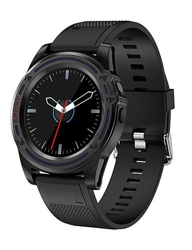 Relógio inteligente Digital Estilo Moderno Esportivo Silicone 30 m Impermeável Monitor de Batimento Cardíaco Bluetooth Digital Casual Ao ar Livre - Preto Dourado Prata