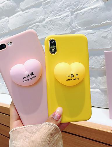 Capinha Para Apple iPhone XS / iPhone XR / iPhone XS Max Ultra-Fina / Estampada Capa traseira Palavra / Frase / Desenho Animado TPU