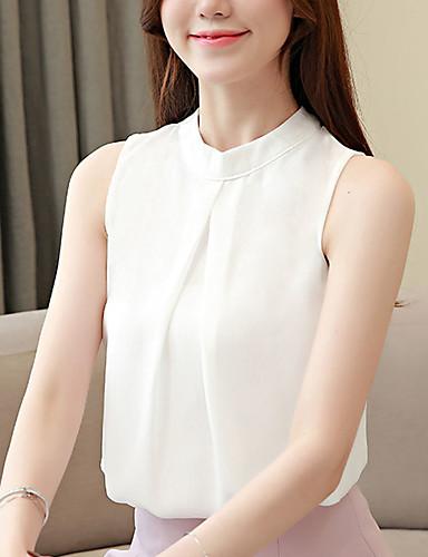 billige Dametopper-T-skjorte Dame - Ensfarget, Åpen rygg Forretning / Grunnleggende Hvit