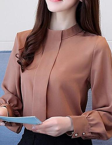 billige Dametopper-Skjorte Dame - Ensfarget Elegant Svart