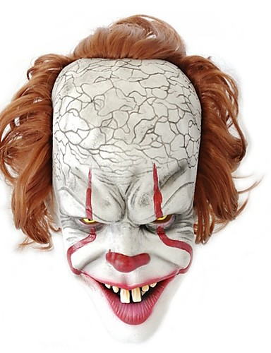 cheap Halloween Masks-Mask Masquerade Halloween Mask Inspired by Burlesque Clown Clown Pennywise Scary Movie White Halloween Carnival Masquerade Adults' Men's Women's