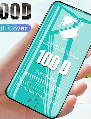 100d curvo borda filme de vidro temperado cobertura completa sobre o para apple iphone 6 7 8 6 s plus x xr xs filme de vidro protetor de tela max