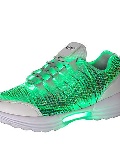 preiswerte Athletische Schuhe für Herren-Unisex Leuchten Schuhe Mikrofaser Herbst Winter Freizeit Sportschuhe Walking Atmungsaktiv Schwarz / Weiß / Rosa
