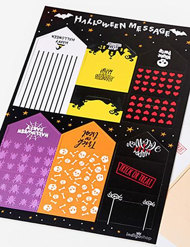 preiswerte Partyzubehör-halloween papier nachricht karte festliche partydekorationen nachricht karte halloween liefert 5 * 10,2 cm