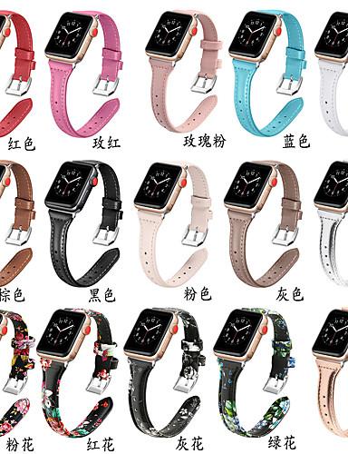 Pulseiras de Relógio para Apple Watch Series 5/4/3/2/1 / Apple Watch Series 4 Apple Pulseira Esportiva Couro Legitimo Tira de Pulso