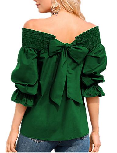 billige Dametopper-T-skjorte Dame - Ensfarget, Blondér Gatemote / Elegant Svart