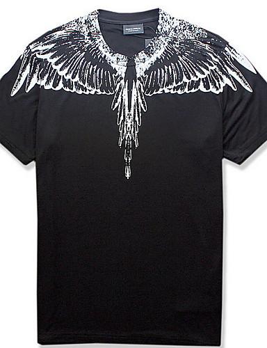voordelige Heren T-shirts & tanktops-Heren T-shirt dier Zwart