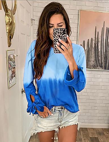 billige Dametopper-T-skjorte Dame - Galakse Grunnleggende Blå