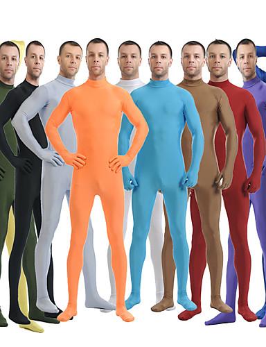 povoljno Maske i kostimi-Zentai odijela Odijelo za kožu Ninja Odrasli Spandex Lycra Cosplay Nošnje Spol Muškarci Žene Crn / Zelen / Obala Jednobojni Halloween / Visoka elastičnost