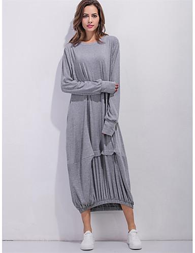 levne Maxi šaty-Dámské Základní Cikánský Shift Abaya Šaty - Jednobarevné Maxi