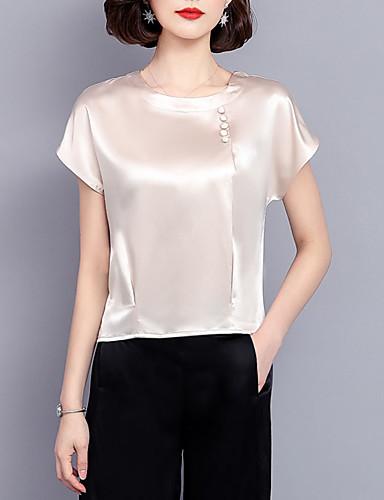 billige Dametopper-T-skjorte Dame - Ensfarget, Perler Forretning / Grunnleggende Vin