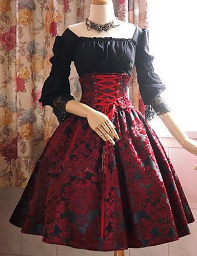 cheap Vintage Dresses-Women's Plus Size Swing Dress - Tie Dye Boat Neck Black Purple Blue S M L XL