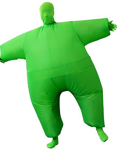 preiswerte Kostüme für Erwachsene-Ringer Cosplay Kostüme Aufblasbare Kostüme Erwachsene Herrn Halloween Halloween Fest / Feiertage Rayon / Polyester Grün Herrn Damen Karneval Kostüme / Gymnastikanzug / Einteiler / Bedienungsanleitung