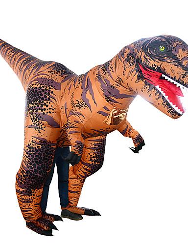 preiswerte Spielzeug & Hobby Artikel-Dinosaurier T-Rex Cosplay Kostüme Aufblasbare Kostüme Erwachsene Herrn Halloween Halloween Fest / Feiertage Rayon / Polyester Braun Herrn Damen Karneval Kostüme / Gymnastikanzug / Einteiler
