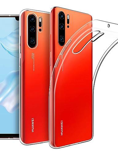 Capinha Para Huawei Huawei P30 Pro Ultra-Fina / Áspero Capa traseira Sólido TPU