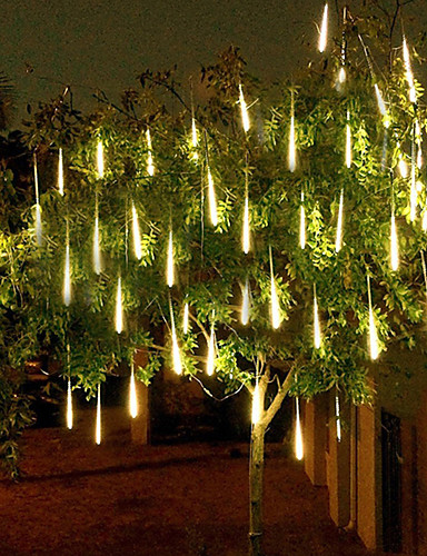 cheap 11.11 - LED String Lights Best Sale-4 pack 50m 16ft Shower Rain Lights 540 LED Falling Meteor Rain Lights for Holiday Party Halloween Christmas Tree Decoration Waterproof