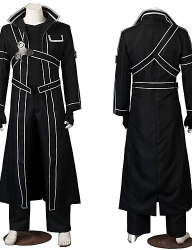 povoljno Maske i kostimi-Inspirirana SAO Swords Art Online Nero Klaudija / Kirigaya Kazuto Anime Cosplay nošnje Japanski Cosplay Suits Kostim Za Muškarci / Žene