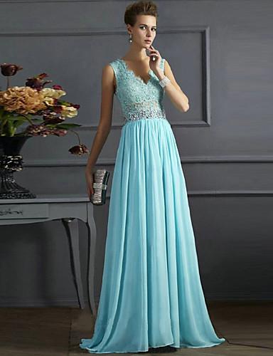 levne Maxi šaty-Dámské Cikánský Elegantní Swing Šaty - Jednobarevné, Krajka Volná záda Flitry Délka ke kolenům