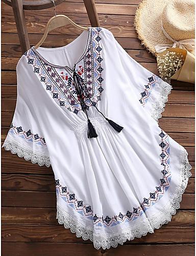 billige Skjorter til damer-Skjorte Dame - Grafisk Svart
