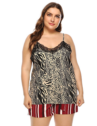 billige Dametopper-Singleter Dame - Leopard Regnbue