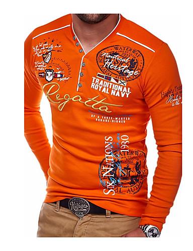 voordelige Heren T-shirts & tanktops-Heren T-shirt Letter Zwart