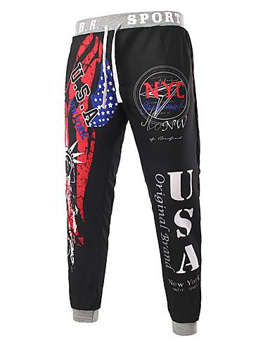 cheap Sale-Men's Basic Sweatpants Pants - Multi Color Black Blue Red US40 / UK40 / EU48 US42 / UK42 / EU50 US44 / UK44 / EU52