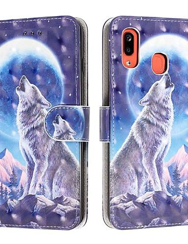 Capinha Para Samsung Galaxy A6 (2018) / A6+ (2018) / Galaxy A7(2018) Carteira / Porta-Cartão / Antichoque Capa Proteção Completa Animal PU Leather