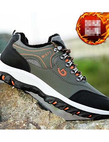 preiswerte Athletische Schuhe für Herren-Herrn Komfort Schuhe PU Herbst Sportschuhe Wandern Schwarz / Leicht Grün / Gelb / Sportlich