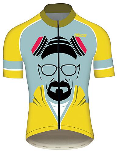 povoljno Biciklističke majice-21Grams Breaking Bad Wlater White Muškarci Kratkih rukava Biciklistička majica - Blue + Žuta Bicikl Biciklistička majica Majice Prozračnost Quick dry Reflektirajuće trake Sportski 100% poliester