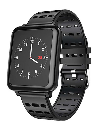 Relógio inteligente Digital Estilo Moderno Esportivo Silicone 30 m Impermeável Monitor de Batimento Cardíaco Bluetooth Digital Casual Ao ar Livre - Preto Verde Vermelho