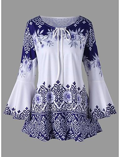 billige Dametopper-T-skjorte Dame - Tribal, Trykt mønster Elegant Svart