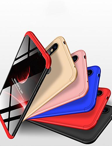 caso para apple iphone xs / iphone xr / iphone xs max / 7 8 plus / 6splus tampa traseira à prova de choque pc de cor sólida