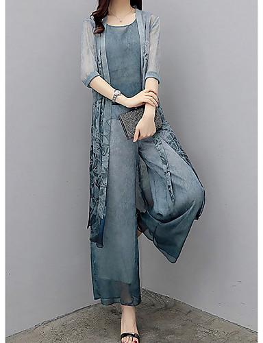 preiswerte Damen zweiteilige Anzüge-Damen Tank Tops - Einfarbig Hose