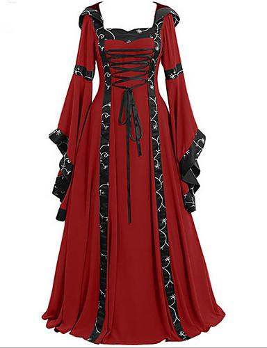 voordelige Maxi-jurken-Dames Standaard Wijd uitlopend Jurk - Gestreept Geometrisch, Print Maxi