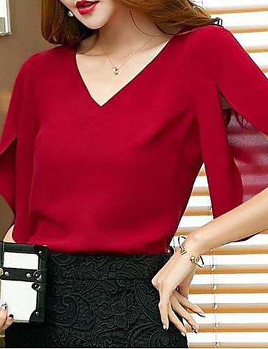 billige Dametopper-T-skjorte Dame - Ensfarget, Drapering Grunnleggende / Gatemote Svart