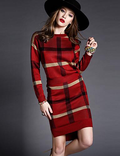 billige Todelt dress til damer-Dame Vintage Sett Skjørt - Trykt mønster, Geometrisk