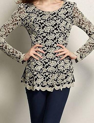 billige Dametopper-Skjorte Dame - Ensfarget, Blonde Vintage Svart